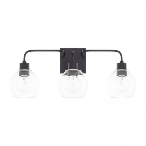 Tanner 3 Light Matte Black Vanity Light by Capital Lighting 120031MB-426