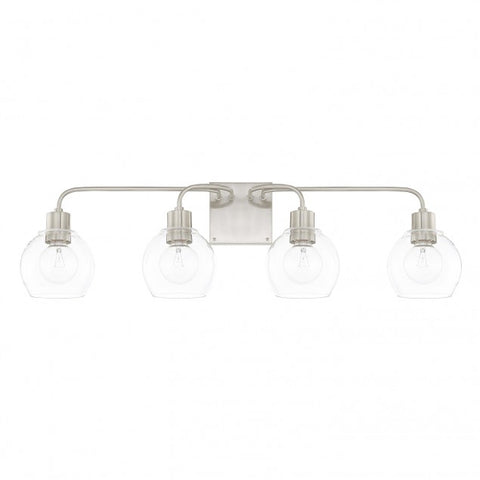 Brushed Nickel 4 Light Tanner Vanity Light by Capital Lighting 120041BN-426
