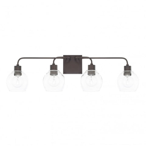 Tanner 4 Light Bronze Vanity Light by Capital Lighting 120041BZ-426