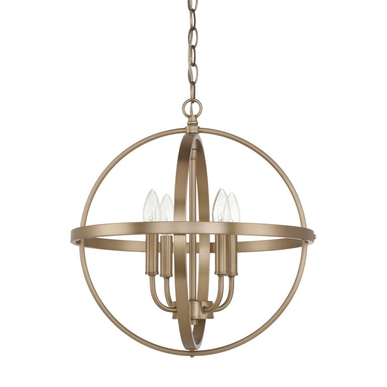 Capital Lighting Home Place Small Brass Orb Pendant 317541AD