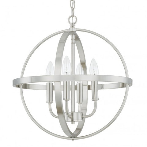 Small Home Place Pendant by Capital Lighting in Brushed Nickel 317541BN