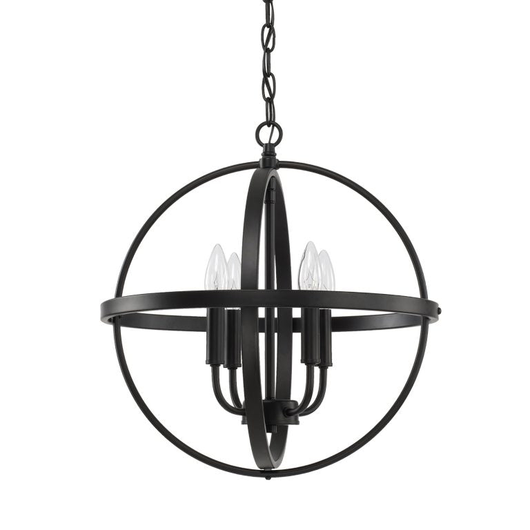 Small Home Place Pendant by Capital Lighting in Matte Black 317541MB