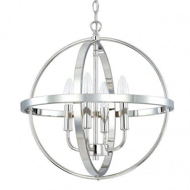Small Home Place Pendant by Capital Lighting in Polished Nickel 317541PN