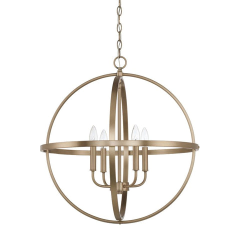 Capital Lighting Home Place Large Brass Orb Pendant 317542AD