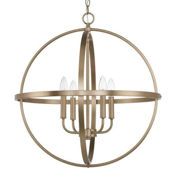 Capital Lighting Home Place Large Pendant in Aged Brass 317542AD