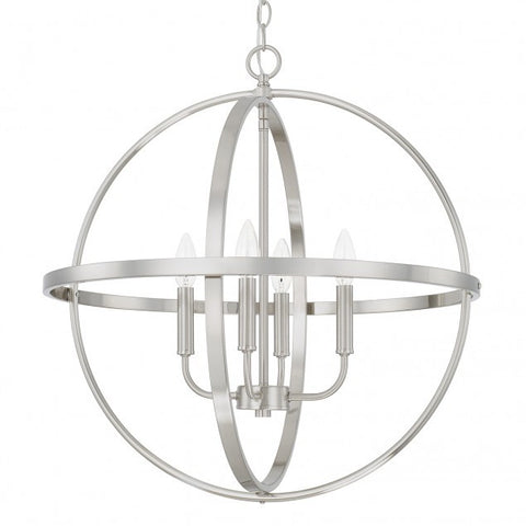 Large Home Place Pendant by Capital Lighting in Brushed Nickel 317542BN
