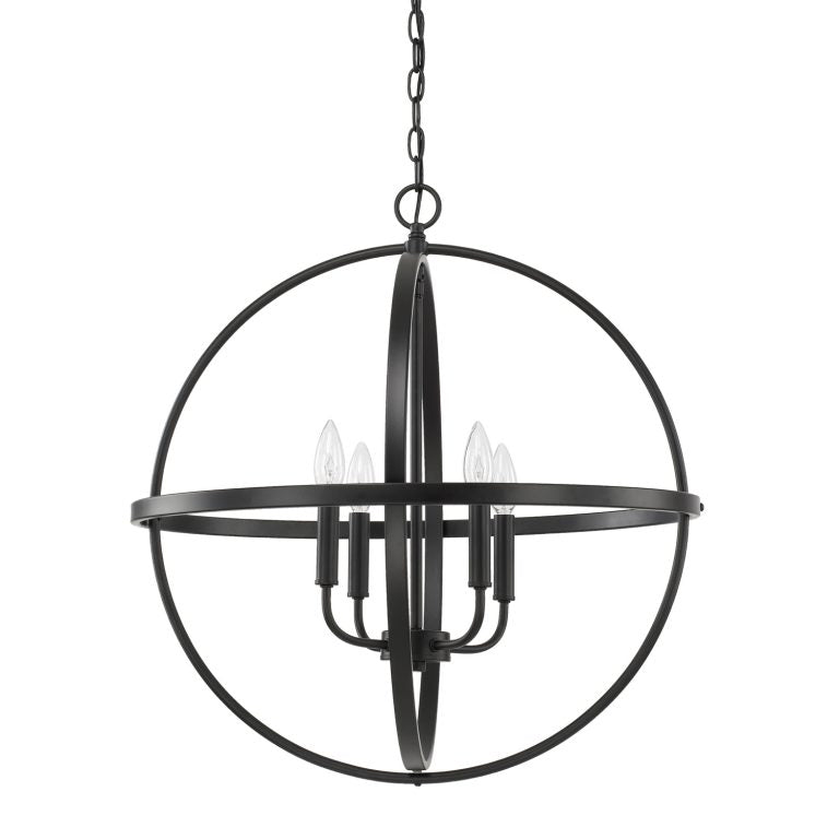 Large Home Place Pendant by Capital Lighting in Matte Black 317542MB