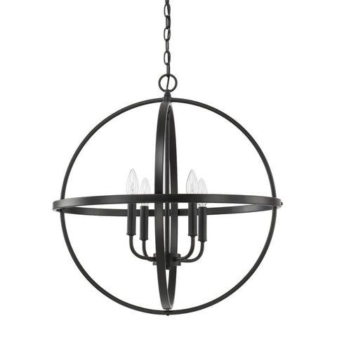 Capital Lighting Home Place Large Pendant in Matte Black 317542MB