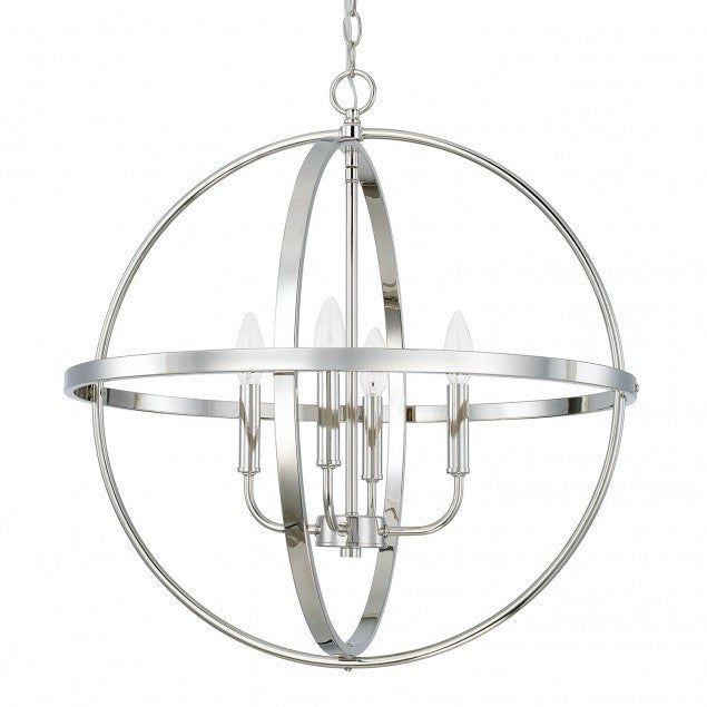 Large Home Place Pendant by Capital Lighting in Polished Nickel 317542PN