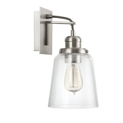 Capital Glass Sconce in Brushed Nickel by Capital Lighting 3711BN-135
