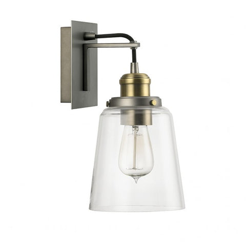 Capital Lighting Industrial Glass Sconce in Aged Brass and Graphite with Black Cord 3711GA-135