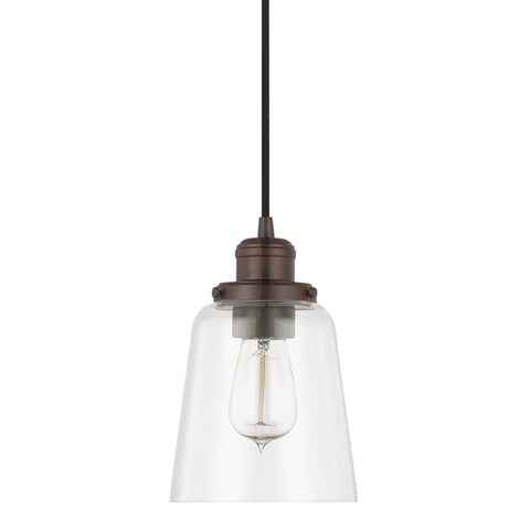Glass Pendant in Burnished Bronze by Capital Lighting 3718BB-135