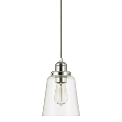 Glass Pendant in Polished Nickel by Capital Lighting 3718PN-135