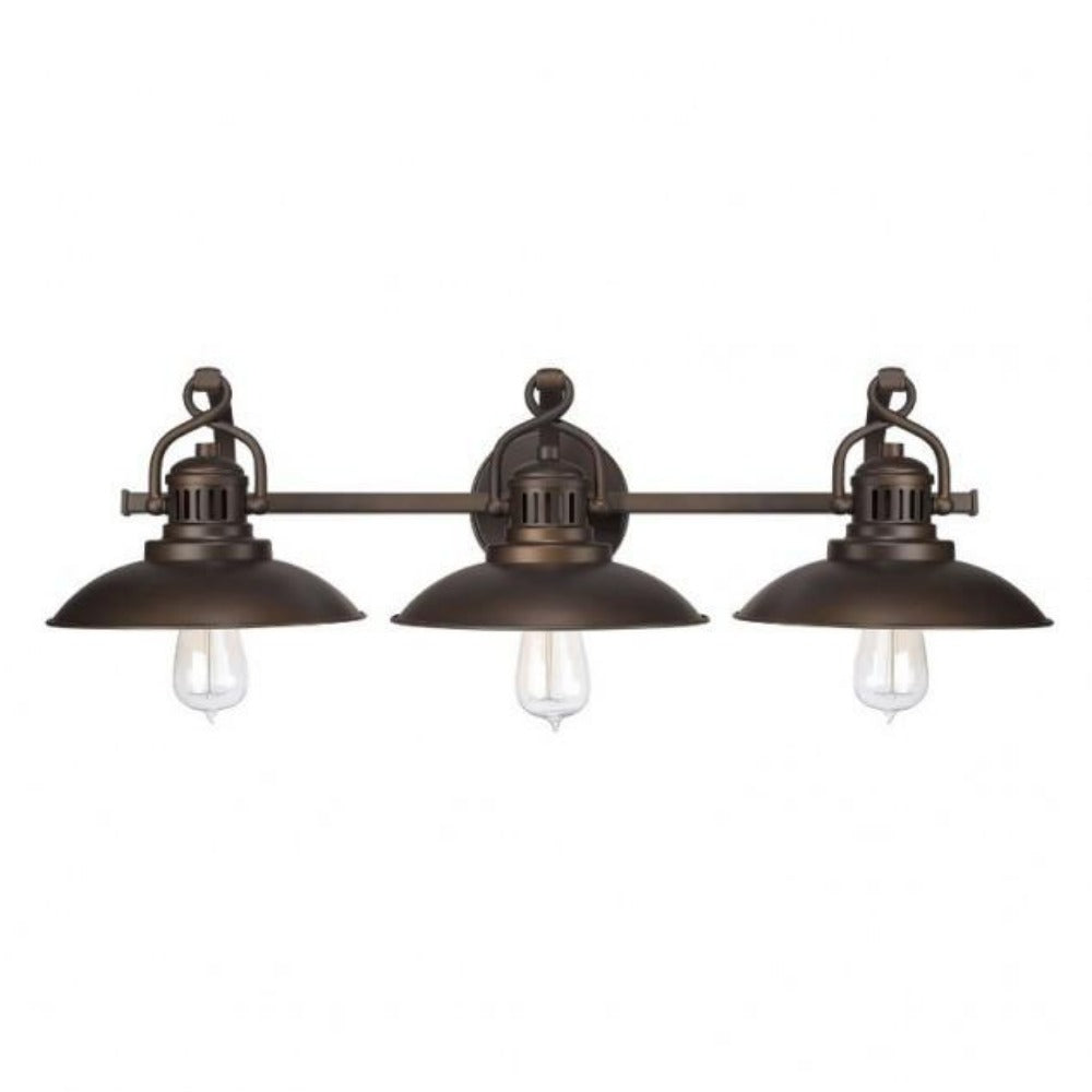 Capital Lighting 3 Light Industrial Bronze O'Neal Vanity Light 3793BB