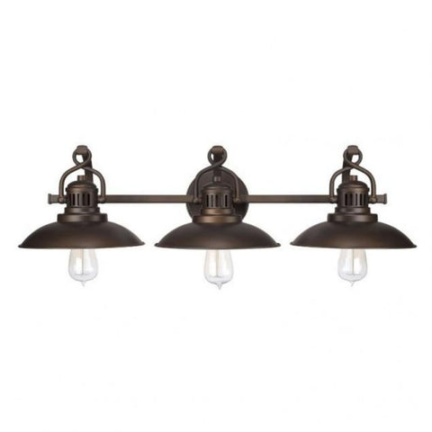 Capital Lighting 3 Light Industrial Bronze O