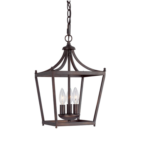 Capital Lighting 3 Light Small Stanton Pendant in Burnished Bronze 4036BB