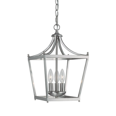 Capital Lighting 3 Light Small Stanton Pendant in Brushed Nickel 4036BN