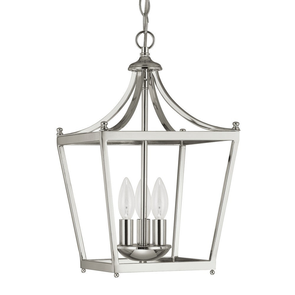 Capital Lighting 3 Light Small Stanton Pendant in Polished Nickel 4036PN