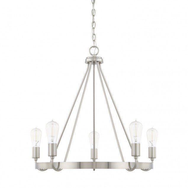 1-Tier Tanner Chandelier in Brushed Nickel by Capital Lighting 420061BN