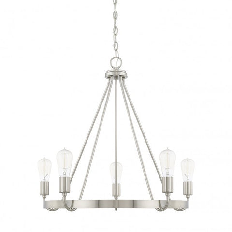 Capital Lighting 5-Light Tanner Brushed Nickel Chandelier 420061BN