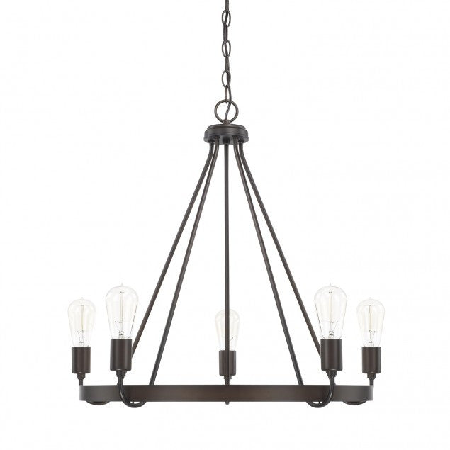 1-Tier Tanner Chandelier in Bronze by Capital Lighting 420061BZ