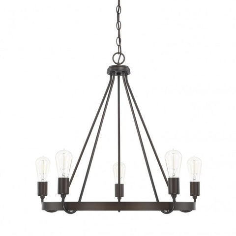 Capital Lighting 5-Light Tanner Bronze Chandelier 420061BZ