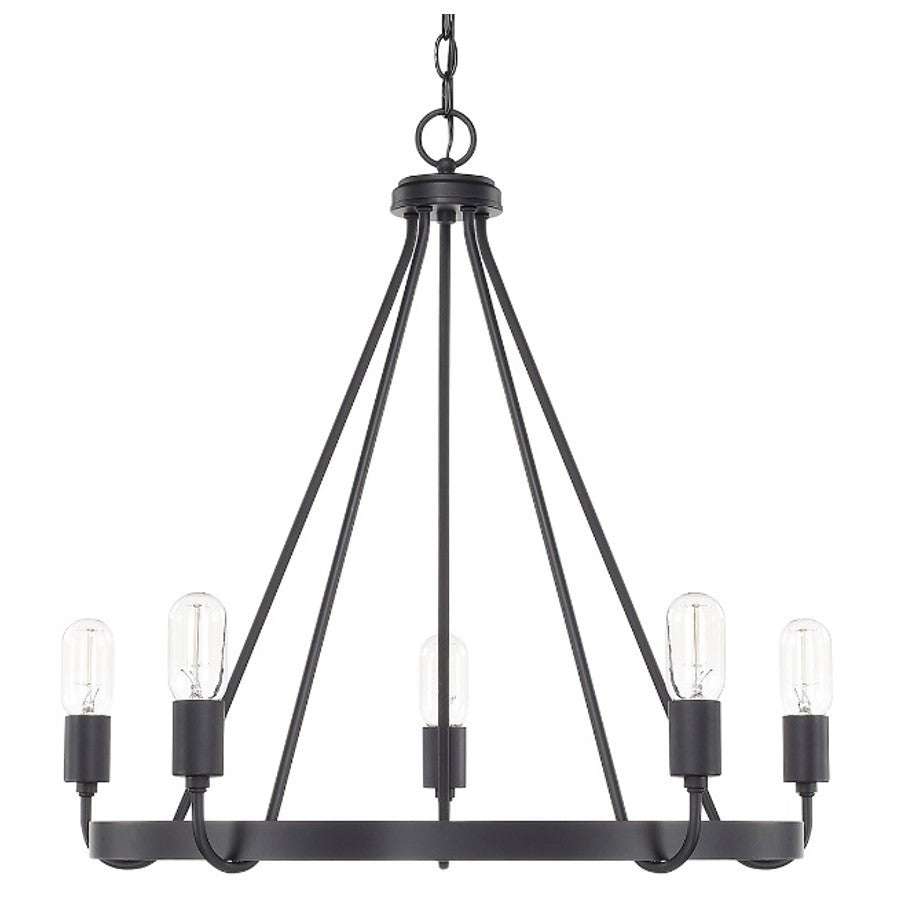 Capital Lighting 5-Light Tanner Black Chandelier 420061MB