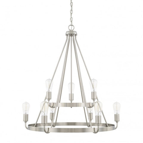 Capital Lighting Tanner 2-Tier Chandelier in Brushed Nickel 420091BN