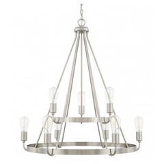Tanner 9 Light Chandelier in Brushed Nickel by Capital Lighting 420091BN