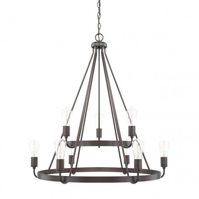 2-Tier Bronze Tanner Chandelier by Capital Lighting 420091BZ