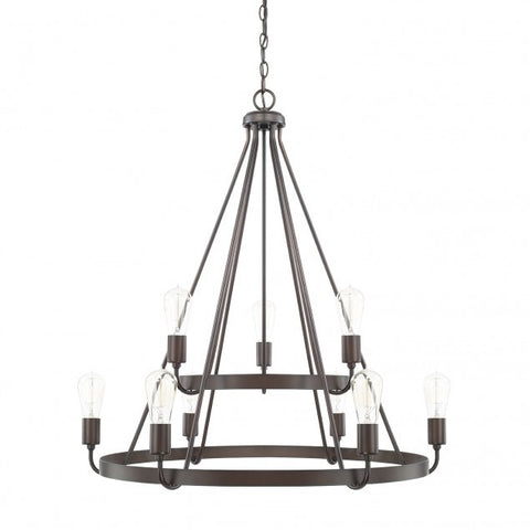 Capital Lighting Tanner Bronze 2 Tier Chandelier 420091BZ