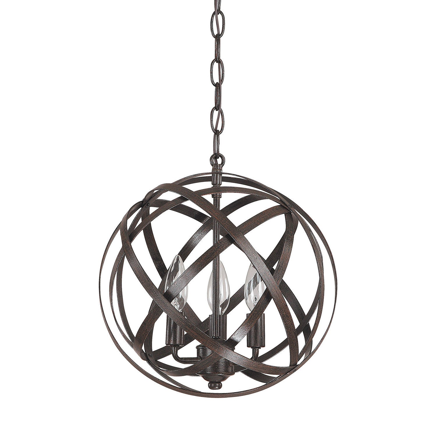 Axis 3 Light Orb Chandelier in Russet Bronze by Capital Lighting 4233RS