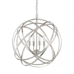 Axis 4 Light Orb Chandelier in Brushed Nickel by Capital Lighting 4234BN