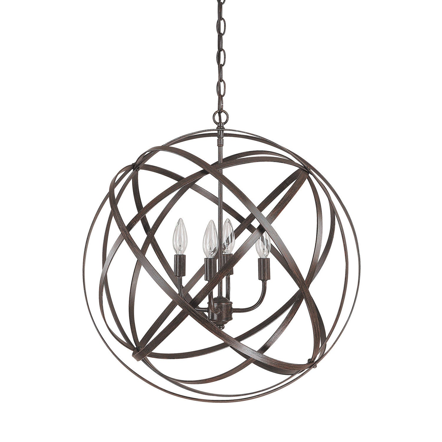 Axis Bronze Orb Chandelier by Capital Lighting