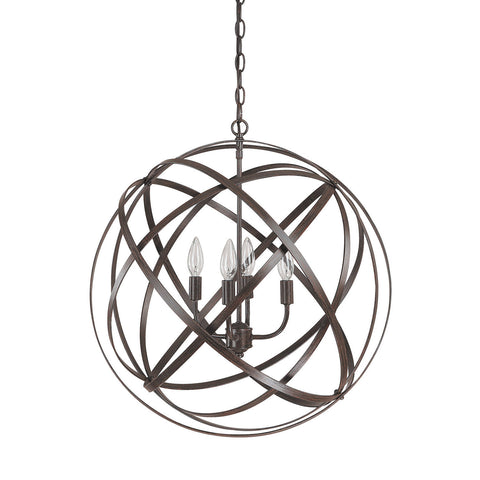 Axis 4 Light Orb Chandelier in Bronze by Capital Lighting 4234RS