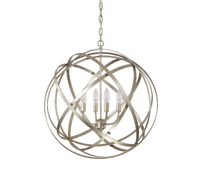 Axis 4 Light Orb Chandelier in Winter Gold by Capital Lighting 4234WG