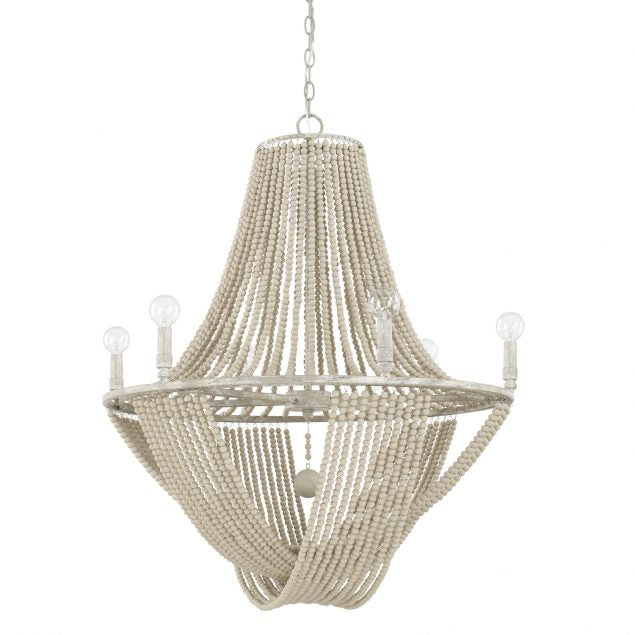 Kayla 6 Light Chandelier in Mystic Sand by Capital Lighting 429561MS