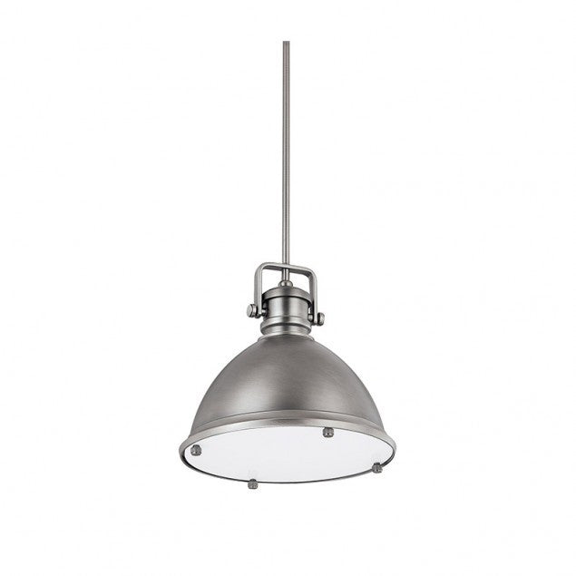 Industrial Pendant by Capital Lighting in Antique Nickel 4432AN