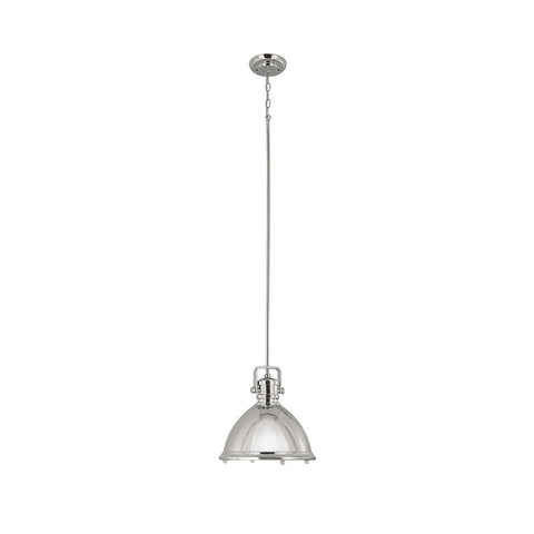 Industrial Pendant by Capital Lighting in Polished Nickel 4432PN