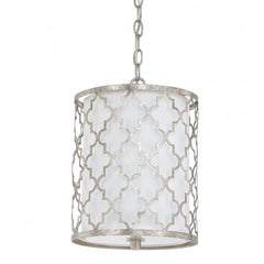 Ellis Drum 2 Light Pendant in Antique Silver by Capital Lighting 4544AS-579