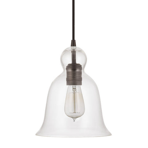 Bell Glass Pendant in Burnished Bronze with Clear Glass Shade by Capital Lightig 4642BB-137