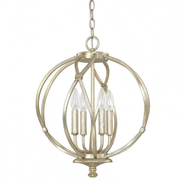 4 Light Bailey Orb Pendant in Winter Gold by Capital Lighting 4723WG