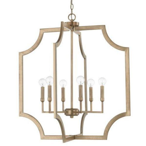 Chapman 6 Light Foyer in Aged Brass by Capital Lighting 526161AD