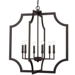 Chapman 6 Light Foyer in Black Iron by Capital Lighting 526161BI