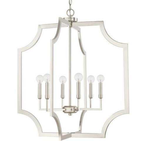 Chapman 6 Light Foyer in Polished Nickel by Capital Lighting 526161PN