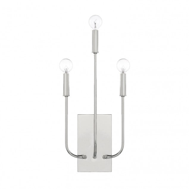 Zander Mid-Century Modern Wall Sconce in Polished Nickel by Capital Lighting 621931PN