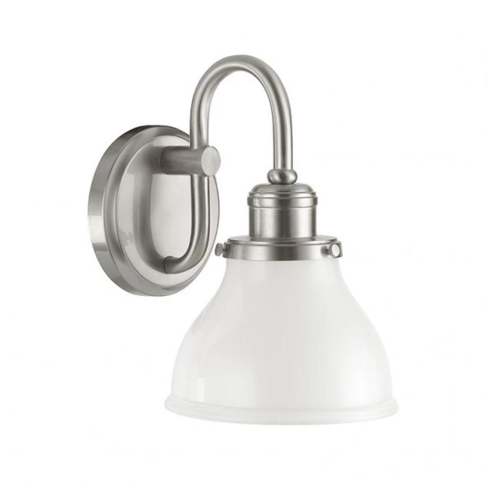 1 Light Baxter Bath Light in Brushed Nickel by Capital Lighting 8301BN-128 Wall Sconce