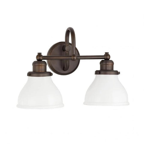 2 Light Baxter Vanity by Capital Lighting in Burnished Bronze 8302BB-128