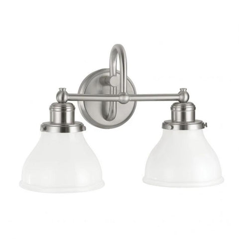 2 Light Baxter Vanity by Capital Lighting in Brushed Nickel 8302BN-128
