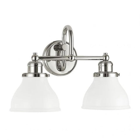 2 Light Baxter Vanity by Capital Lighting in Polished Nickel 8302PN-128